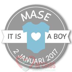 Stickers voor Geboortebedankjes