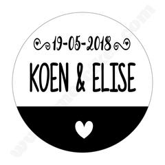 Stickers voor Bedankjes