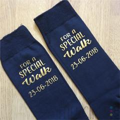 Bedrukte sokken voor bruiloft