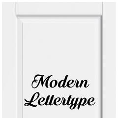 Modern Lettertype