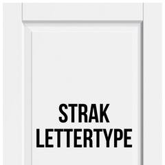 Strak Lettertype