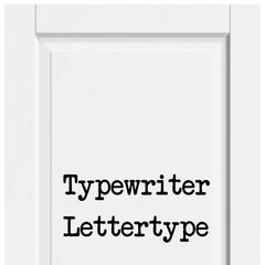 Typewriter Lettertype