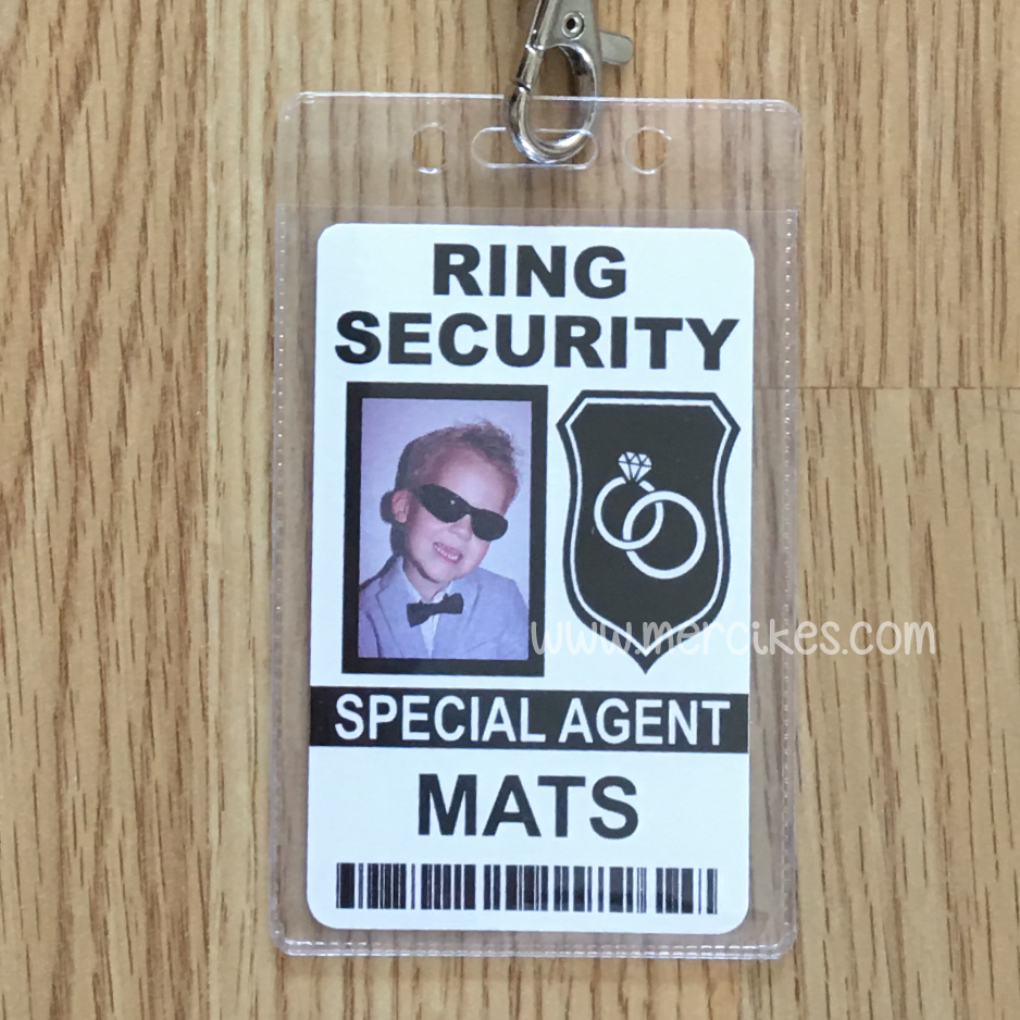 Badge Ringsecurity met Foto