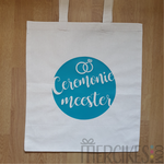 kado ceremoniemeester, canvas tas ceremoniemeester