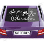 autosticker just married vogeltjes met namen mercikes.com