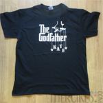 cadeau peter godfather met naam van petekind, godfather t-shirt