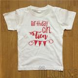 t-shirt verjaardag kind, birthday girl met naam