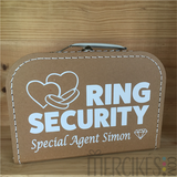 Ringsecurity koffertje Special Agent met naam - Harten _