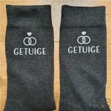 sokken bedrukt voor getuigen