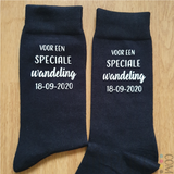 """Sokken """"voor een speciale wandeling"""" met datum_"""