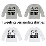 Set van 2 Verjaardag Shirtjes voor een Tweeling_