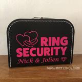Orgineel idee voor je bruiloft, ringsecurity koffer van mercikes.com