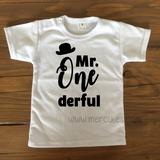 t-shirt verjaardag kind mr onederful