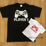 hetzelfde shirt vader dochter player 1 player 2