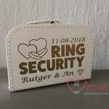 kinderen als ringdrager, ringkoffer, ring security koffer