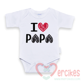 papa romper, i love papa baby