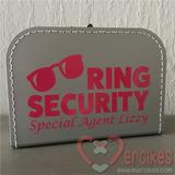 bruiloft/orgineel-idee-huwelijk/ringsecurity koffer Special agent