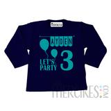 Shirt Verjaardag Let's Party - Lange mouw_