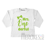 Shirt mrs onederful strikje - Lange mouw_