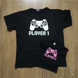 Set van 2 Matching Shirts - Player 1 en Player 2_