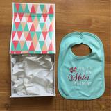 Cadeau voor meter vragen: Luxe box met slabber