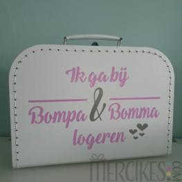 Koffer Ik ga bij Bompa en Bomma logeren
