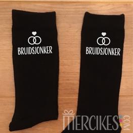 Kado Bruidsjonker - Sokken Bruidsjonker Strak Lettertype