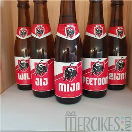 5 Bierlabels Jupiler Nieuw - Wil jij mijn Peetoom / Peettante zijn?
