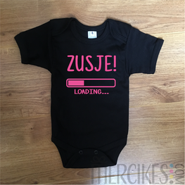 Zusje loading... - Gender Reveal romper