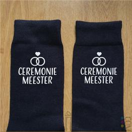 Kado Ceremoniemeester - Sokken Ceremoniemeester Strak Lettertype