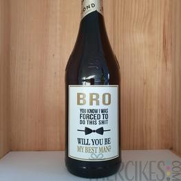Wijn / Bieretiket Best Man - Bro