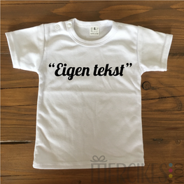 Shirtje met Eigen Tekst!