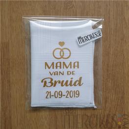Zakdoek Mama van de Bruid / Bruidegom