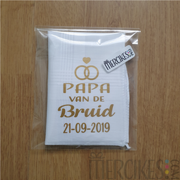 Zakdoek Papa van de Bruid / Bruidegom