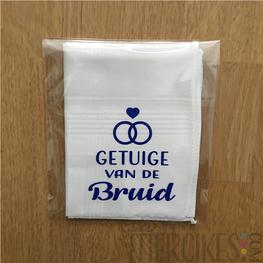 Zakdoek Getuige Bruid Ringen