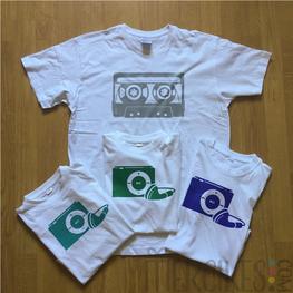 Twinning Shirts Ouder Kind Cassette en iPod