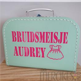 Koffertje voor Bruidsmeisje met Naam