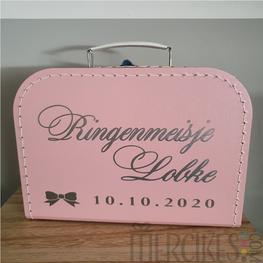 Koffer Ringenmeisje Sierletters en datum