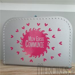 Herinneringskoffer Mijn Eerste Communie Hartjes