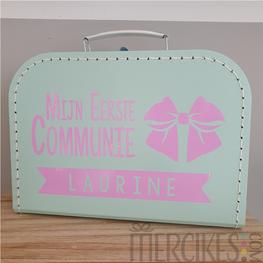 Koffertje voor communie Strik en Naam