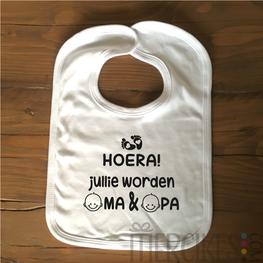 Slabber Hoera jullie worden Oma & Opa!