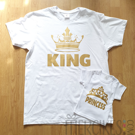 Matching Shirt Vader Dochter King Princess