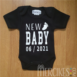 Romper New Baby met Datum