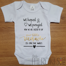 Our miracle on the way - romper