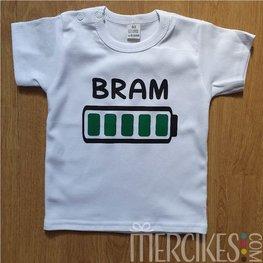 Shirtje met naam Batterijlevel