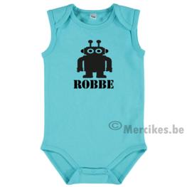 Romper baby met stoere Robot en Naam