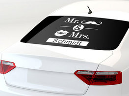 Just Married Mr & Mrs met Naam