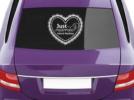 Auto Sticker Huwelijk met Naam