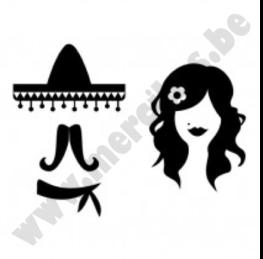 Toiletsticker Mexicaans