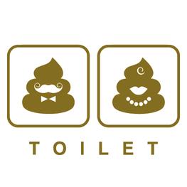 Toiletsticker Grappige Drol Emoij